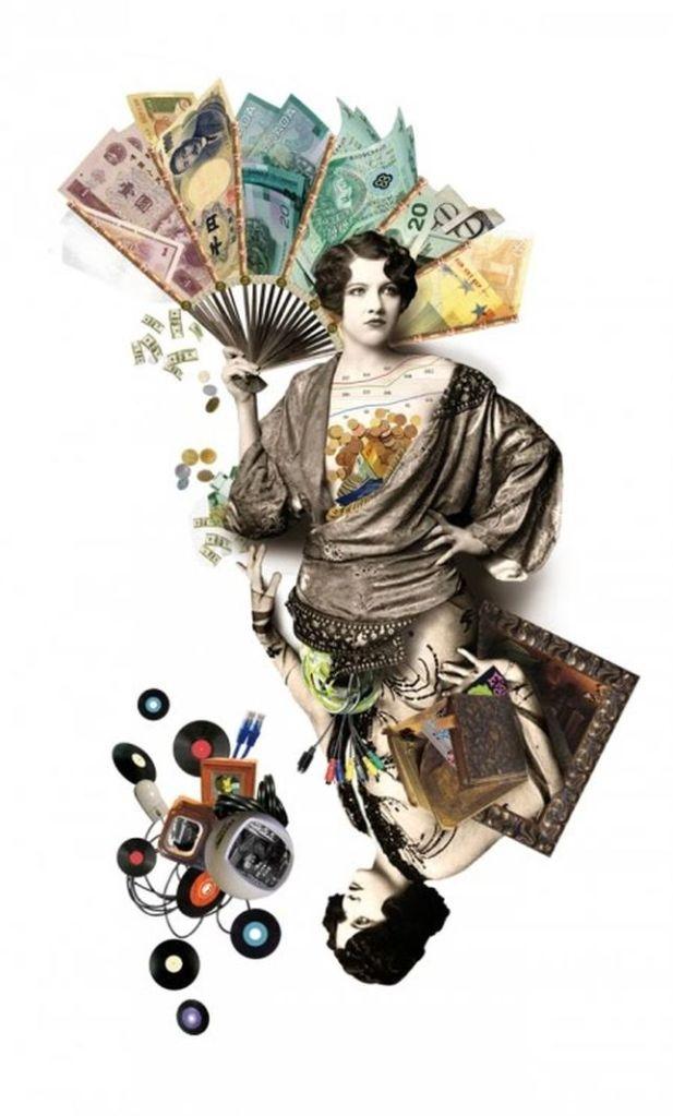 Collage de Sra. Milton para Harpers Bazaar España